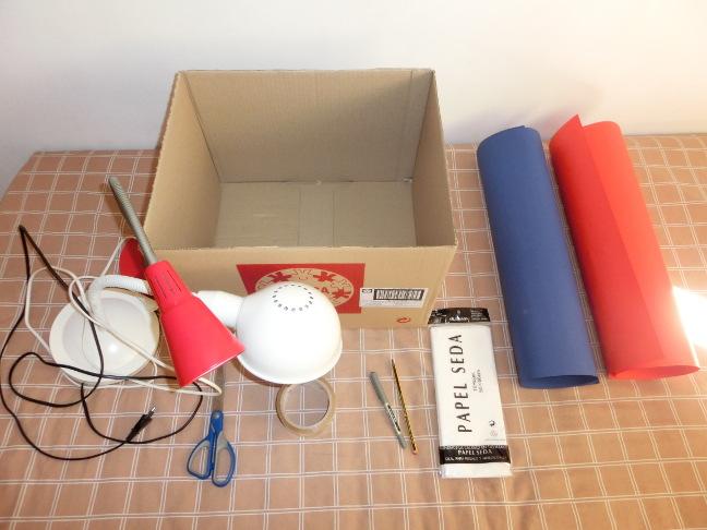 materiales caja de luces