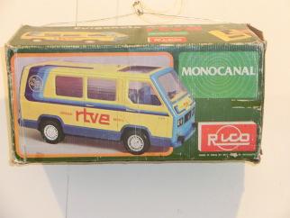 Exposición de juguetes furgoneta rtve caja original