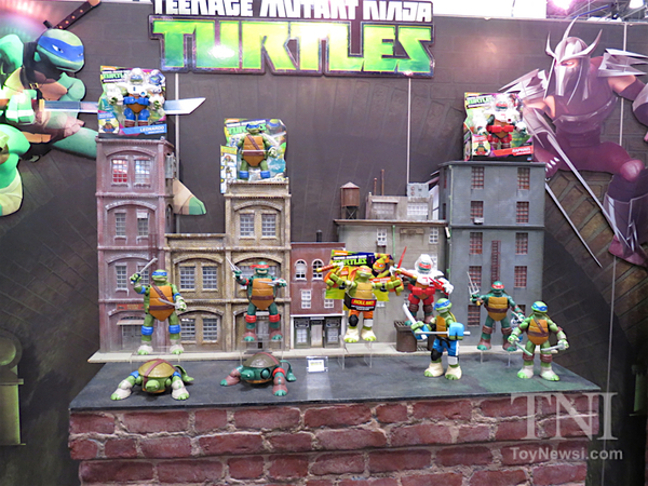 Giant turtles display on New York Toy Fair 2016
