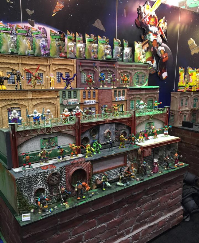 Playmates display on New York Toy Fair 2016