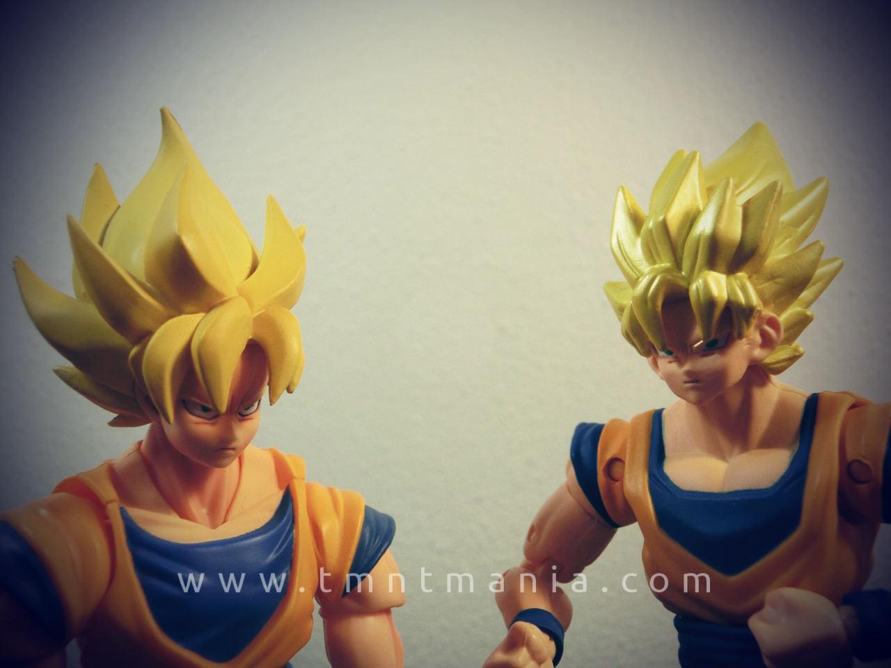 Comparativa de las figuras de Goku