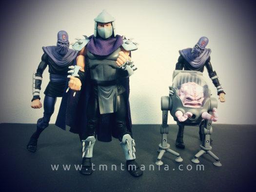 Imagen de los 4 villanos, encabezados por Shredder
