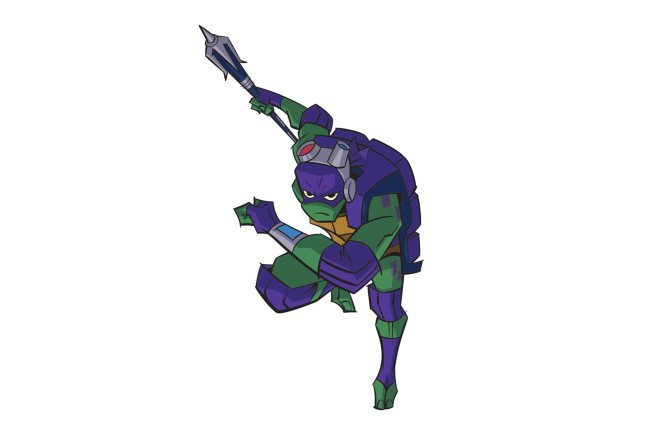 Diseño de Donatello para la serie The Rise of the Turtles