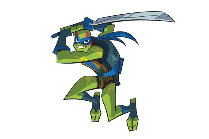Diseño de Leonardo para la serie de las Tortugas Ninja 2018