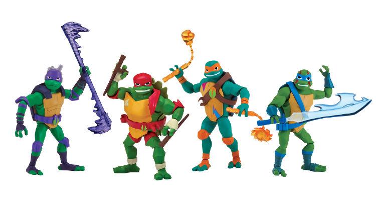 Imagen promocional de las nuevas figuras de las tortugas ninja básicas