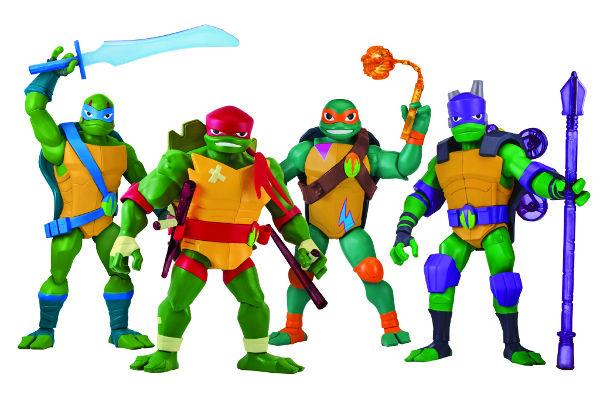 Imagen promocional de las nuevas figuras de las tortugas ninja gigantes
