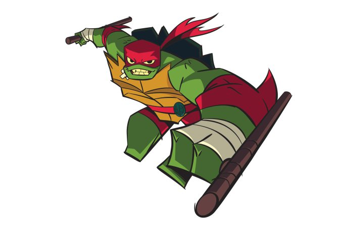 Diseño de Raphael para la serie The Rise of the Turtles
