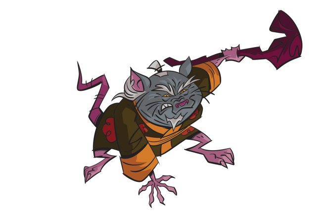Diseño de Splinter para la serie The Rise of the Turtles