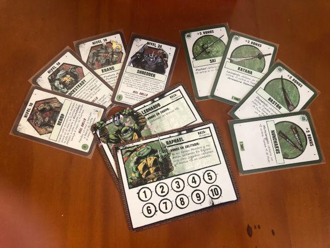 Algunos ejemplos de cartas y fichas de personaje