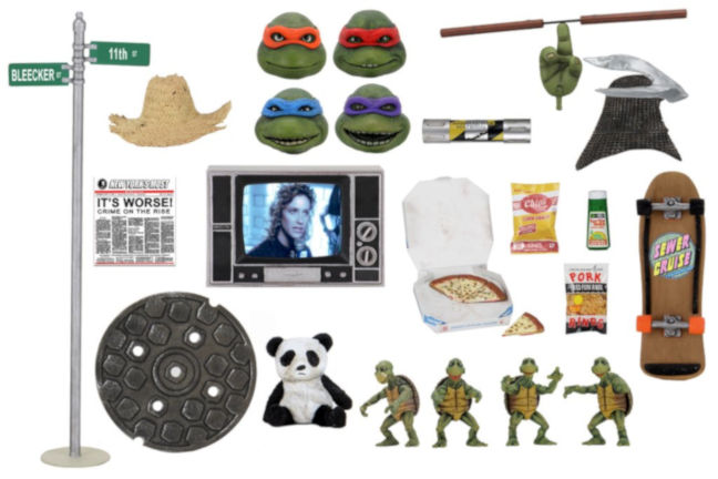 Imagen del pack de accesorios de Las Tortugas Ninja de Neca