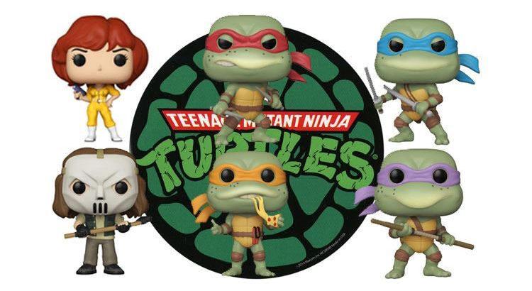 Imagen de cabecera con las 6 figuras funko pop tortugas ninja 1990