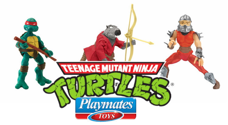 Imágen de portada de las figuras de Las Tortugas Ninja de Playmates versión cómic
