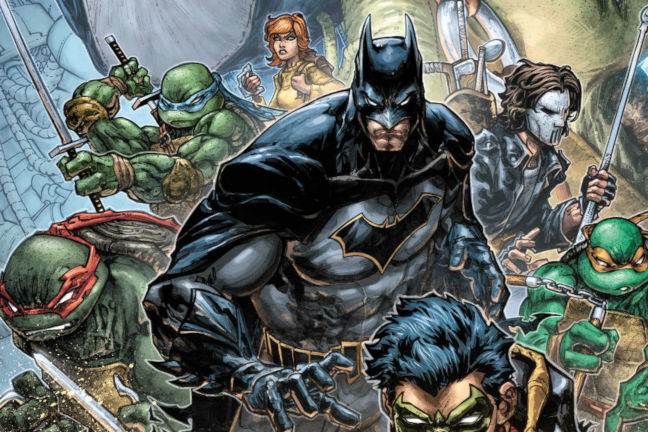 Imagen del cómic de Batman vs Las Tortugas Ninja