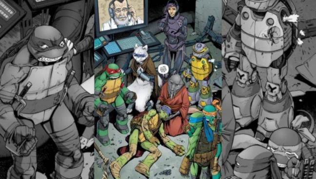 Imagen del cómic de Las Tortugas Ninja de IDW
