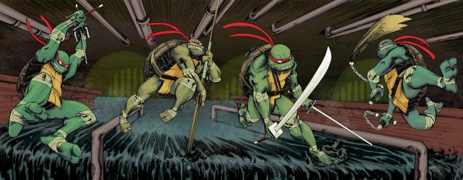 Imagen de las portadas de los cómics de Las Tortugas Ninja de IDW
