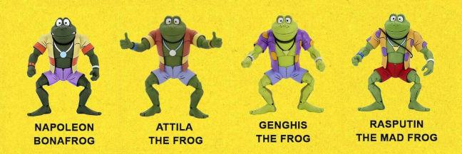 Imagen de las figuras de las Punk Frogs