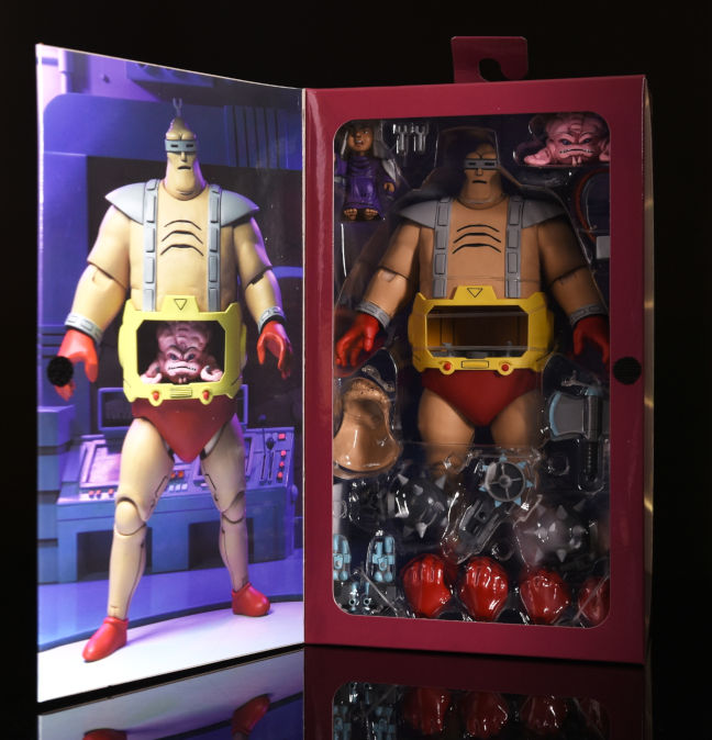Imagen del packaging de la figura Krang Android Body de Neca