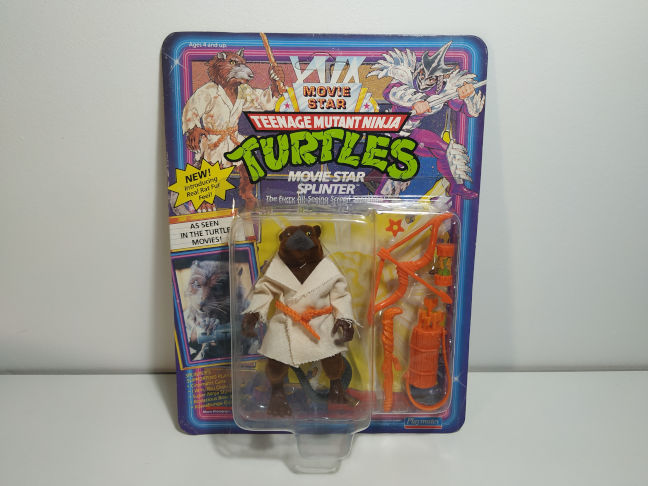 reedición de las Movie Star Turtles de Playmates Splinter
