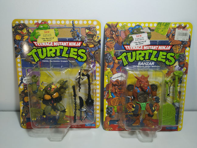 reedición de las Movie Star Turtles de Playmates Tokka y Rahzar