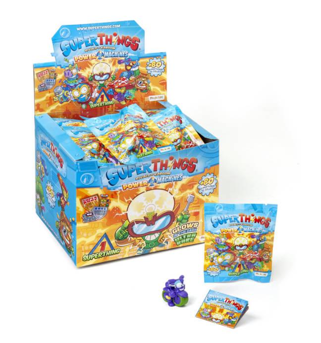 Imagen de la caja de sobres de Superthings Serie 7