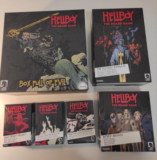 Imagen de las expansiones de Hellboy The Board Game