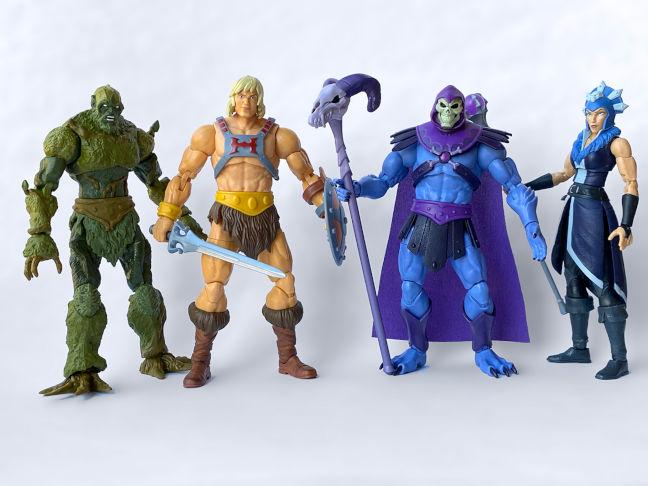 Imagen de las primeras figuras de Masters del Universo Masterverse