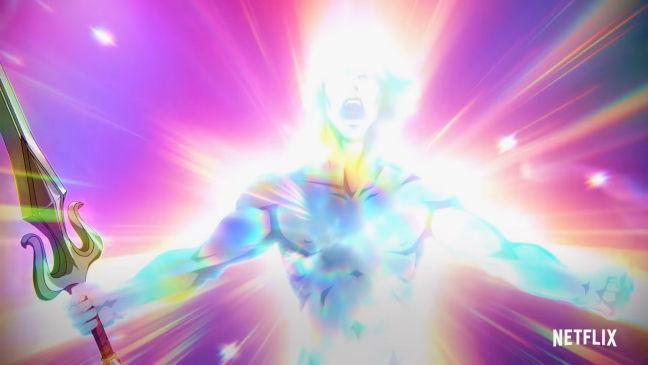 Imagen de la transformación de He-Man de la nueva serie Masters del Universo Revelación