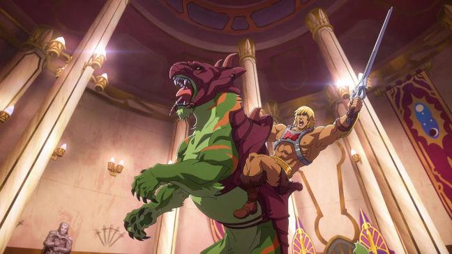 Imagen de He-Man sobre Battle Cat de la nueva serie Masters del Universo Revelación