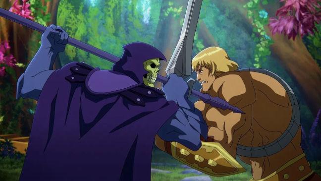 Imagen de He-Man contra Skeletor de la nueva serie Masters del Universo Revelación
